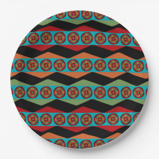 Zig Zags and Circles Paper Plates