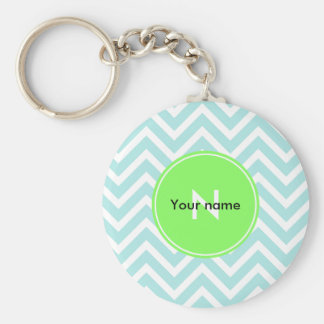 Zig zague basic round button key ring