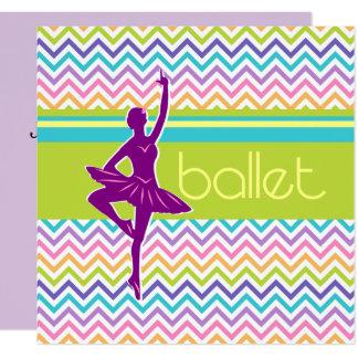 Zigzag Ballet 13 Cm X 13 Cm Square Invitation Card