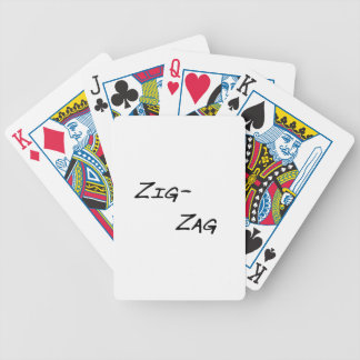 zigzag bicycle playing cards