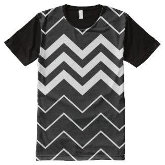Zigzag Black Stripes All-Over Print T-Shirt