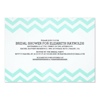 Zigzag Bridal Shower Invitations