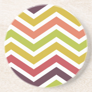 ZigZag Chevron Colorful Jelly Bean Coaster