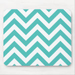 Zigzag Chevron Pattern in light blue Mousemats