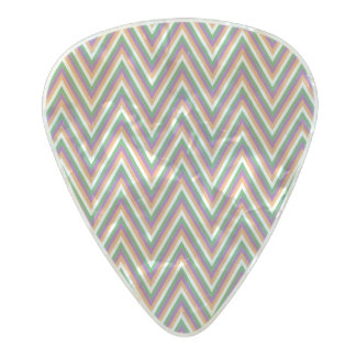 Zigzag Chevron Pattern Pearl Celluloid Guitar Pick