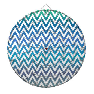 zigzag, colorful, funny, blue and green dartboard