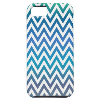 zigzag, colorful, funny, blue and green iPhone 5 case