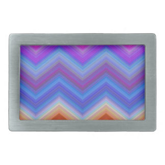 zigzag, colorful, funny rectangular belt buckles