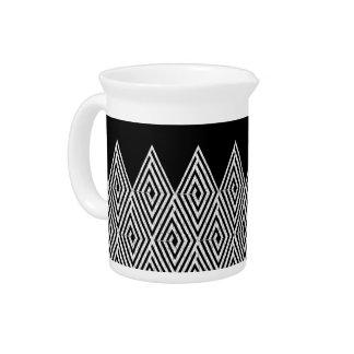 Zigzag Diamond Chevron Tribal pattern Drink Pitcher
