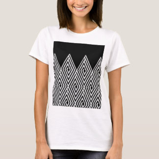 Zigzag Diamond Chevron Tribal pattern T-Shirt