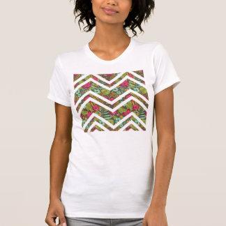 Zigzag Flower Pattern T-Shirt