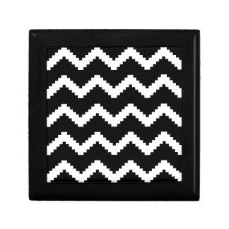 Zigzag geometric pattern - black and white. gift box