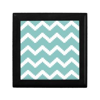 Zigzag geometric pattern - blue and white. gift box
