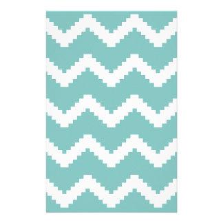 Zigzag geometric pattern - blue and white. stationery