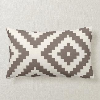 Zigzag Geometric Pattern Taupe Brown Lumbar Cushion