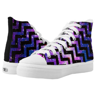Zigzag Girls Design Hightop Printed Shoes