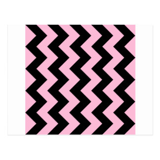 Zigzag I - Black and Cotton Candy Postcard