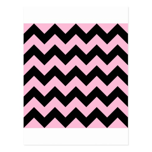Zigzag I - Black and Cotton Candy Post Cards