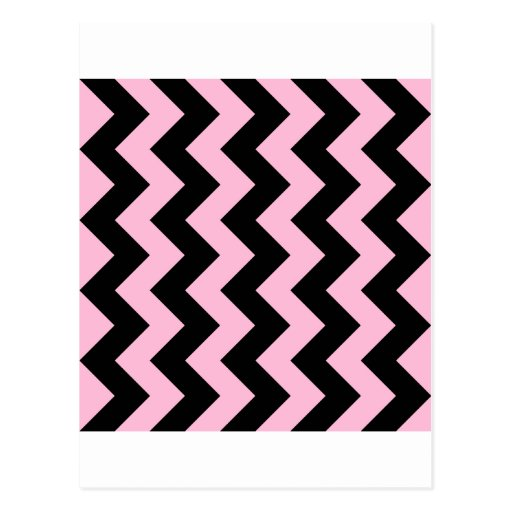 Zigzag I - Black and Cotton Candy Post Card