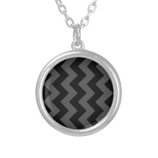Zigzag I - Black and Gray Personalized Necklace