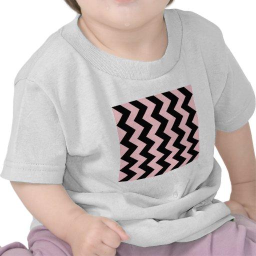 Zigzag I - Black and Pink T-shirts
