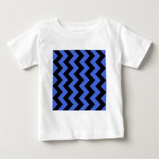 Zigzag I - Black and Royal Blue Tees