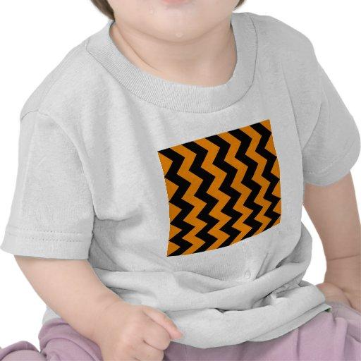 Zigzag I - Black and Tangerine T-shirt