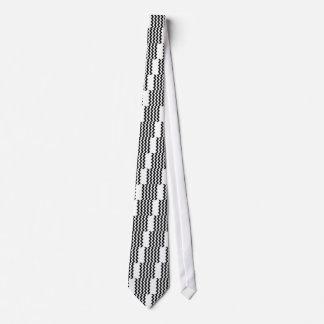 Zigzag I - Black and White Tie