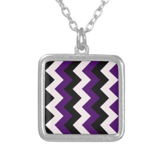 Zigzag I - Black, Pink and Dark Violet Custom Jewelry
