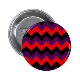 Zigzag I - Black, Red and Violet Pinback Buttons