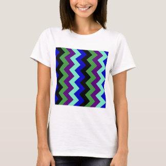 Zigzag I - Blue, Green, Violet, Green, Black. T-Shirt