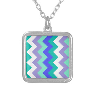 Zigzag I - Blue, Green, Violet, White, Green. Necklaces