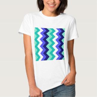 Zigzag I - Green, Blue, Blue, White, Green T Shirt