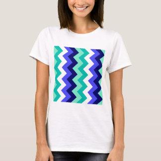 Zigzag I - Green, Blue, Blue, White, Green T-Shirt