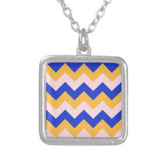 Zigzag I - Orange, Blue, Pink Personalized Necklace