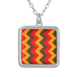 Zigzag I - Orange, Brown, Red Jewelry