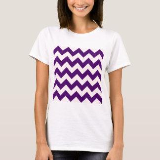 Zigzag I - Pink and Dark Violet T-Shirt
