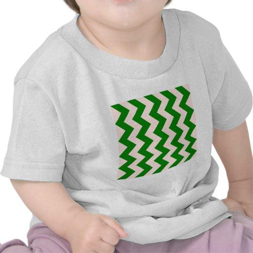 Zigzag I - Pink and Green Tshirt