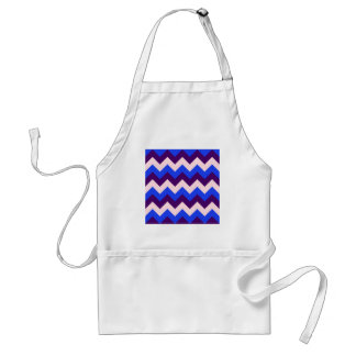 Zigzag I - Pink, Dark Violet, Blue Apron