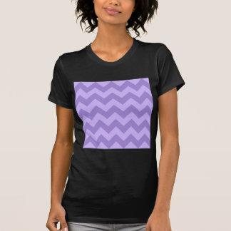 Zigzag I - Violet and Light Violet T Shirt