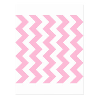 Zigzag I - White and Cotton Candy Post Card