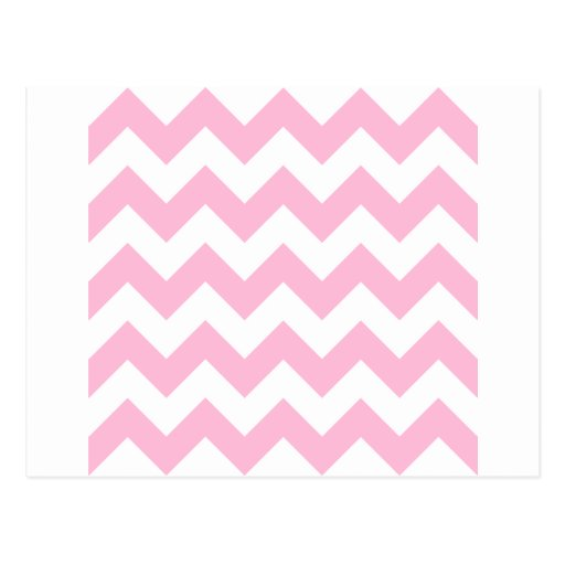 Zigzag I - White and Cotton Candy Postcard