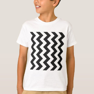 Zigzag I - White and Dark Gray T-Shirt