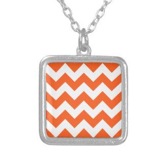 Zigzag I - White and Dark Pastel Red Necklace