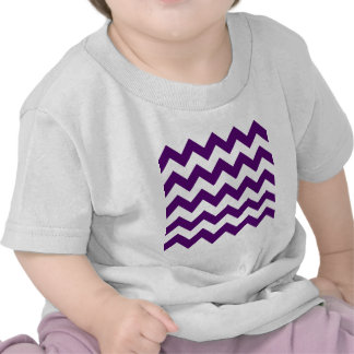Zigzag I - White and Dark Violet Tees