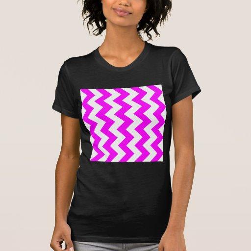 Zigzag I - White and Fuchsia T Shirt