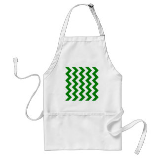Zigzag I - White and Green Apron