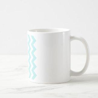 Zigzag I - White and Pale Blue Mugs