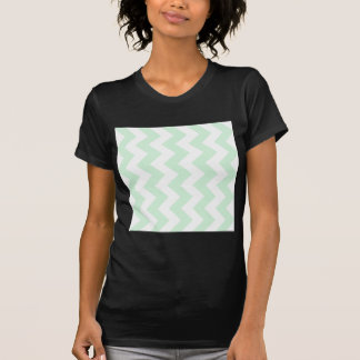 Zigzag I - White and Pastel Green Tees