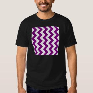 Zigzag I - White and Purple Shirt